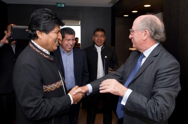 EVO MORALES Y ANTONIO BRUFAU ACUERDAN AUMENTAR LA PRESENCIA DE REPSOL EN BOLIVIA