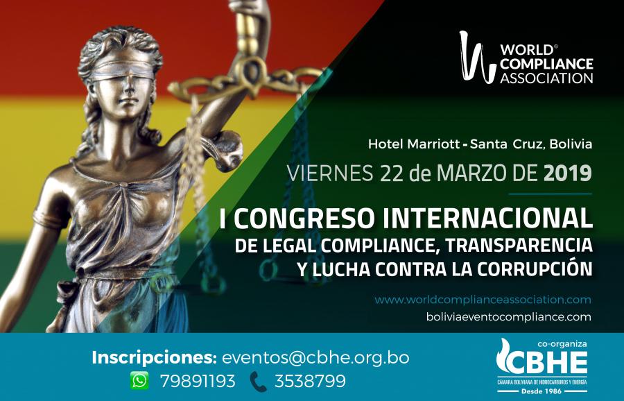 WCA Y CBHE ANUNCIAN CONGRESO DE COMPLIANCE  Y LUCHA CONTRA LA CORRUPCIÓN